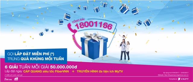 Cơ hội trúng ngay 50.000.000đ cho khách hàng khi gọi 18001166