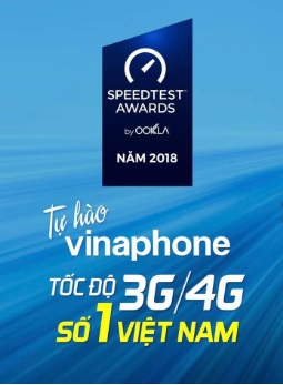 VinaPhone Toc do 3G 4G so 1 Viet Nam